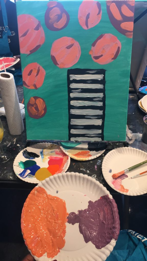 Ladies Paint Night at Pinot's Palette in Apex, North Carolina
