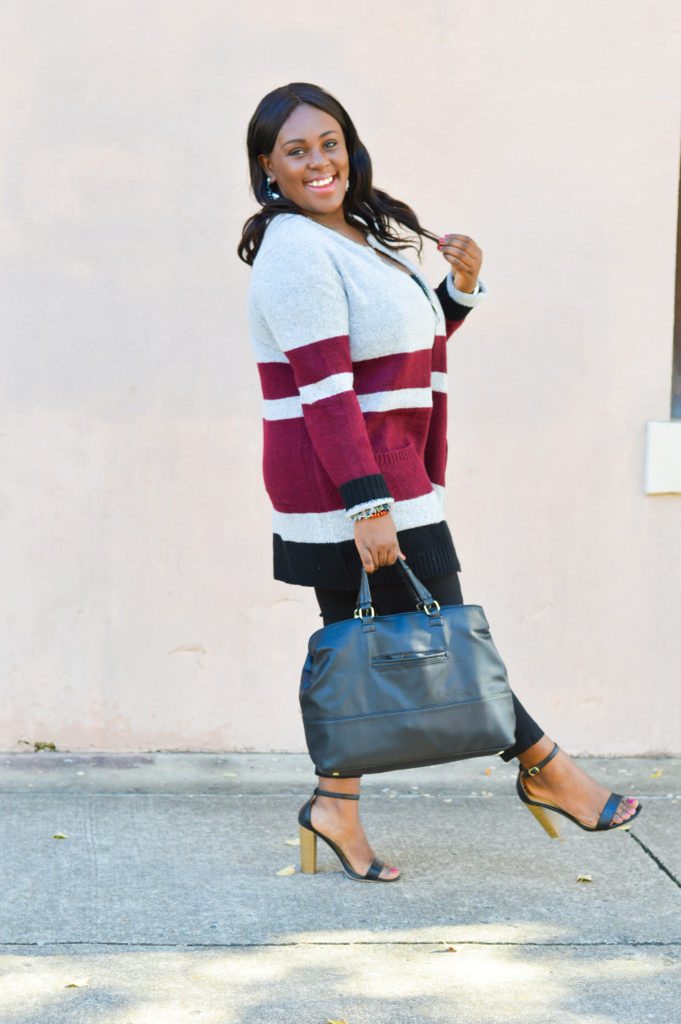 Colorblocking work wear outfit